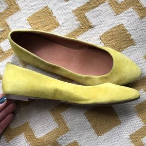 Madewell yellow suede flats